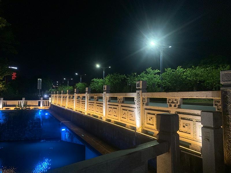 河道护栏亮化效果