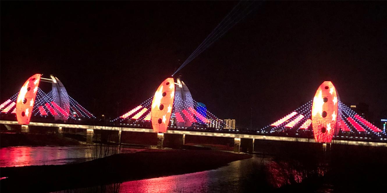 甘肃陇南市栈道湾大桥点光源亮化